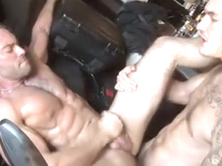 Tattooed Gay Guys Sucking and Banging