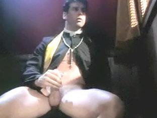 Exotic male in crazy handjob, vintage homosexual adult scene