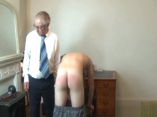 Spanked for back chat