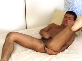 Exotic Asian gay dudes in Horny threesomes, masturbation JAV movie