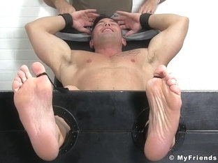 Muscleman Joey Tickled - Joey - MyFriendsFeet