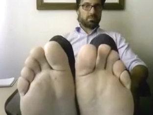 Straight guys feet on webcam #483