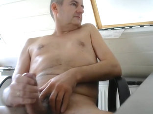 Handsome daddy wanking