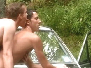 Smooth Spruce Sexual Mates Outdoor Anal Sex On Da Car Hood