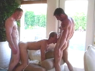 Crazy male pornstars Steve Cassidy, Clint Cooper and Bryan Archer in fabulous blowjob homo sex sce.