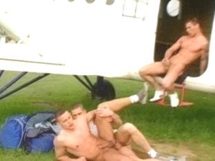 Best male pornstars Rick Bauer, Nick Reiner and Patick Kacer in amazing uniform, blowjob homosexua.