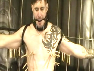 Hottest male in exotic bdsm homosexual sex scene