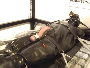feeble in enormous rubber thraldom bag