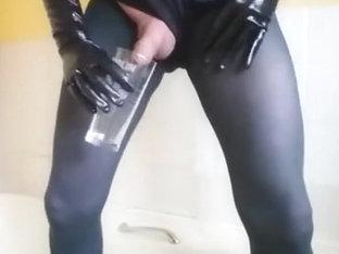 Pantyhose Piss Wank Cum