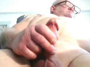 Grandpa cum on webcam 4