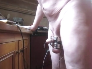 Double orgasm, hands free with electro estim