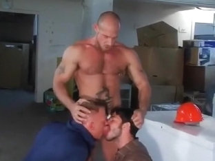 Basement fuck with double team
