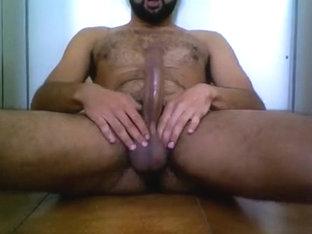 milking my big hairy balls