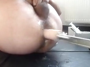 Hard session of fucking machine
