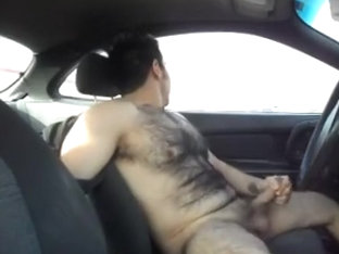 Jacking off in my car again