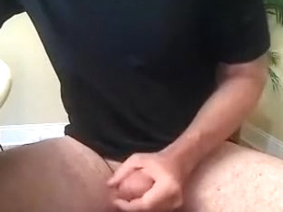 Handsome boyfriend is jerking off at home and shooting himself on camera