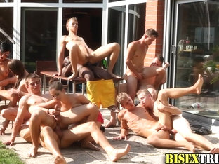 Group bisex fuck train
