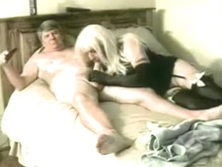 Mature man uses sissy very hard