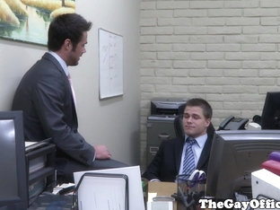 Office hunk assfucked doggystyle in office