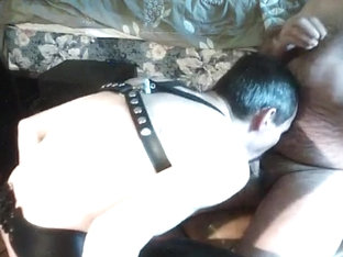 cumeating swallowing my stud : moustache with cum and poppers
