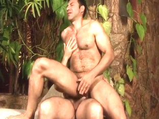 Two Horny Bears Hook It Up Outside