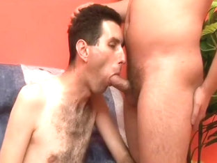 Hairy Jock Gets Cum Down His Chest