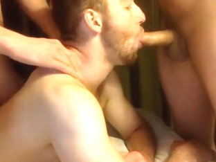 3 Muscle Bi Curious Guys Sucking Cock Having Fun On Cam