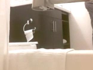 Hidden camera - masturbating in bathroom