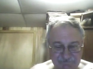 Grandpa show on webcam 3