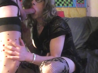 Crossdresser laura amazing facial