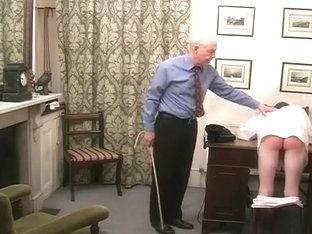 Head boy's fag spanked, slippered and caned