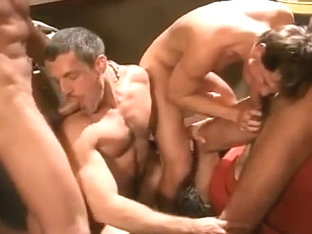 Colton Ford in a garage orgy