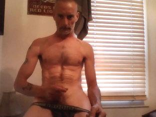 hot amateur guy strips and masturbates till he cums