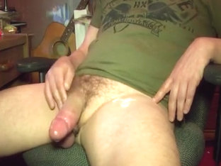 Jackin' off my large jock (slo-mo cum discharged)