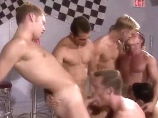 Gay jocks in oral orgy