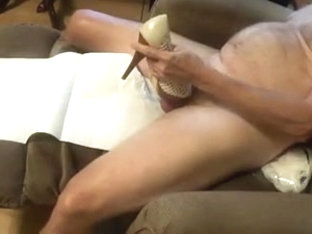 White Peeptoe Heels fucking and cum Part 2