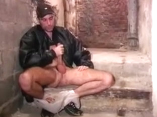 Hot French stud blows himself