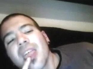 Straight guys feet on webcam #279