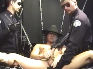 Cowboy and two cops