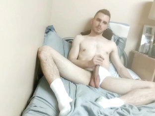 Jerking Off in Tube Socks and White Briefs