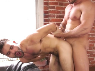 RB2722 Gay porn stud Austin Wolf ties up and fucks hairy otter Ian Parker