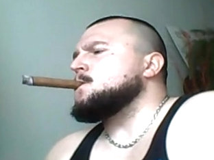 Big Man smoking big cigar