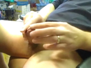 Playing with my cock while watching porn...