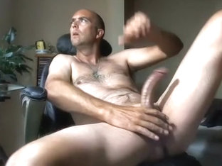 Lovely boy is beating off at home and filming himself on web cam