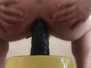 Riding my long thick black dildo atm