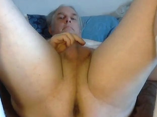 Jack off and cum with dildo in my ass super close up.