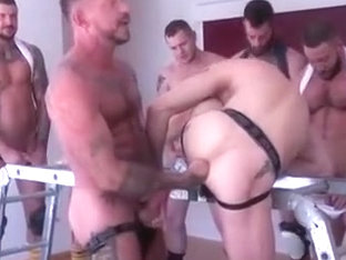 Amazing male in crazy fetish, big dick gay adult scene