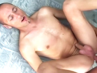 Two Muscle Gay Hunks Fuck And Cum On Each Others Cocks