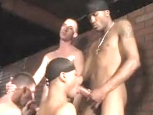 Horny male in best group sex, interracial homosexual adult clip