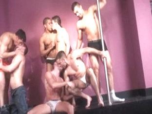Crazy male pornstars Manuel Lozano, Tommy Lima and Oscar Blanco in exotic tattoos, latins homosexu.